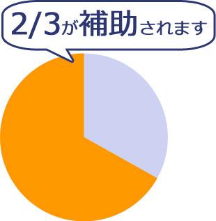 ネットショップ構築・運営費用の2/3が補助金として支給