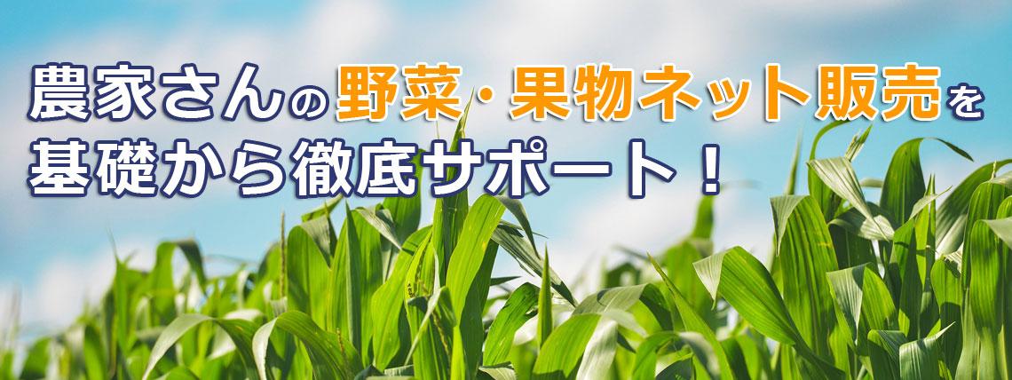 農家さんの野菜、果物ネット販売を、基礎から徹底サポート