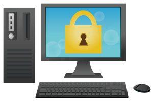 ホームページのセキュリティ画面