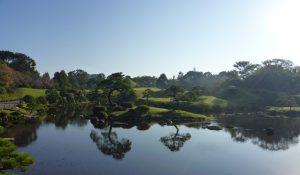 水前寺成趣園の風景