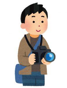カメラを持っている人