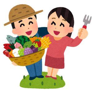 お客様と農家さんが手を取り合っているイメージ