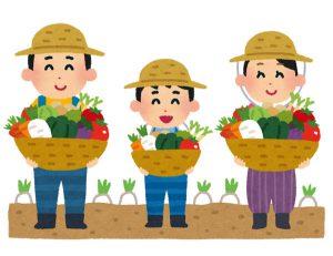家族経営の農家さんのイラスト