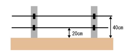 電気ワイヤー設置のイラスト