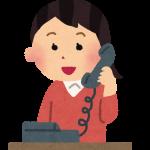 農家さんに電話注文をしている女性のイラスト