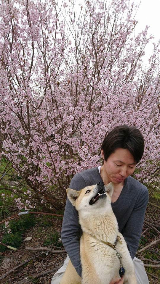 桜と犬と農ログメンバー